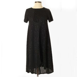 Lularoe Elegant Black Sparkly Carly - Xxs